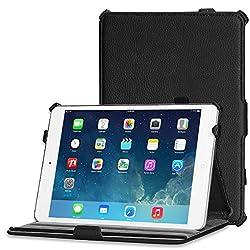 Apple iPad Mini 2 Case Cover, ARMOR Premium Folio Series Slim Fit hand made Flip Cover book Case for Apple iPad Mini 2 (Auto Wake Sleep) Black
