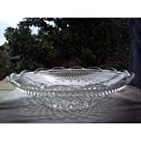 Clear Pressed Glass Platter
