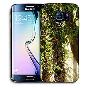 Snoogg Abstract Leaves In Tree Printed Protective Phone Back Case Cover For Samsung Galaxy S6 EDGE / S IIIIII