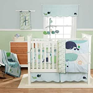 Little Whale 4 Piece Baby Crib Bedding Set by Migi