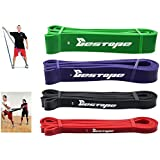 BESTOPE® Latex Resistance Bands Exercise Bands Set Exercise Loop Power Crossfit Bands for Strength Weight Training Fitness Bands Resistance Strap (sets of 4 colors)