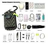 ASTRO 23 in 1 / Paracord rope multi function outdoor survival kit (7 strand cord) (Camouflage)