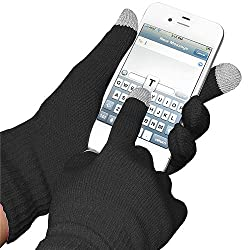 Amzer AMZ92804 Capacitive Touch Screen Knit Gloves (Black)