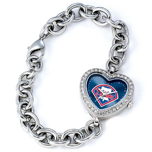 MLB Women's MH-PHI Heart Collection Philadelphia Phillies Watch at Amazon.com