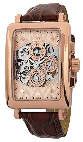 Burgmeister BM107-365 - Reloj para hombres, correa de cuero color marrón