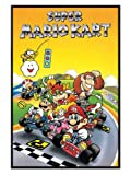 Gaming Gloss Black Framed Classic SNES Super Mario Kart Poster 61x91.5cm