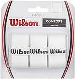 Wilson Profile Overgrip x 3 Grip White per Racchette da Tennis