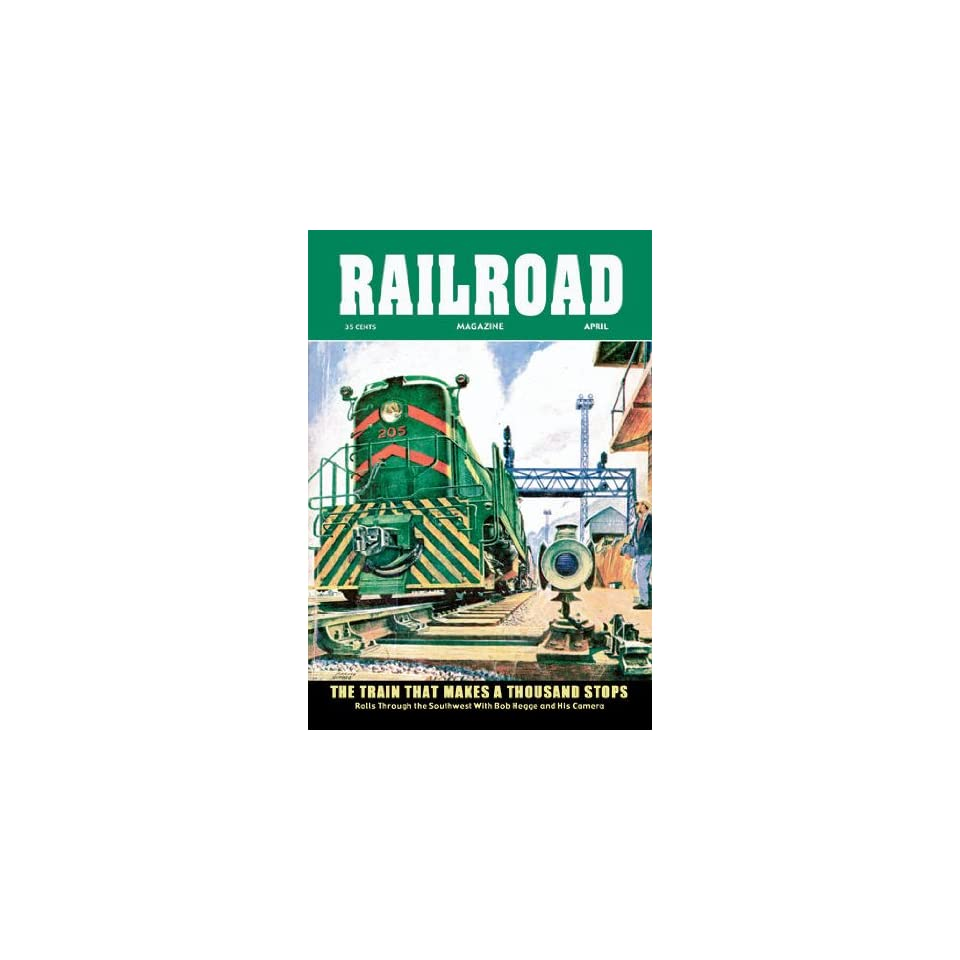 Railroad Magazine The Train That Makes a Thousand Stops 1954 12x18 Giclee on canvas