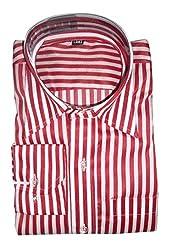 Lords Wear Men's Formal Shirt (LordsWear_Red White_42)