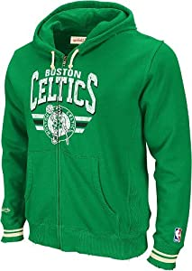 Boston Celtics Mitchell & Ness Stadium Vintage Green Full Zip Premium Hooded... by Mitchell & Ness