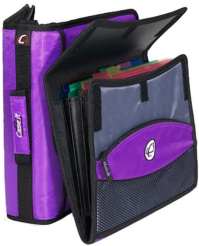 Case-it Sidekick 2-Inch O-Ring Zipper Binder With