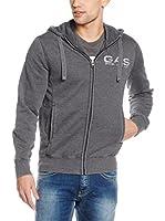 Gas Jeans Sudadera con Cierre (Gris)