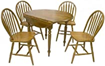 Hot Sale TMS 5 Piece Drop Leaf Dining Set, Oak