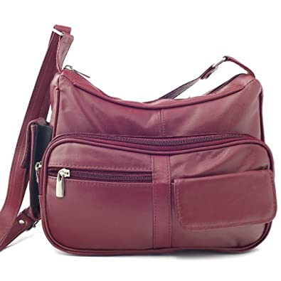 Genuine Leather Handbag Purse with Cell Phone Holder & Many Pockets Choice of Colors