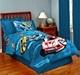 Hot Wheels Race Bedding Set 4 Pc Twin Comforter and Sheets