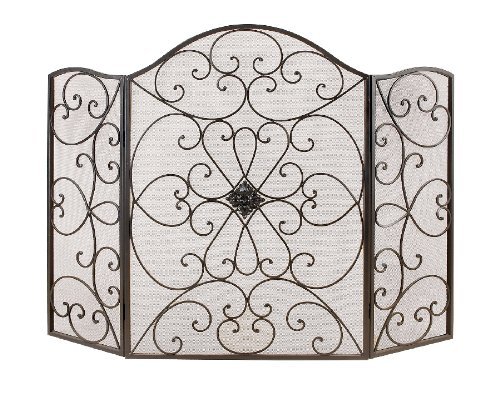 Cheap Elegant Decorative Metal Fireplace Screen