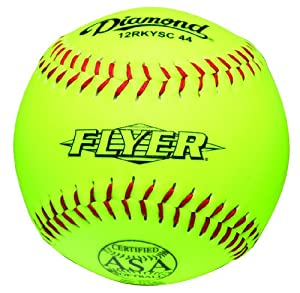 Diamond 12-Inch Super Synthetic Optic Cover Softball, Cork Core, 44 COR, 375... by Diamond Sports