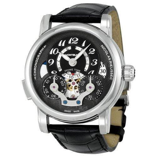 Montblanc Nicolas Rieussec Automatic Chronograph Black Dial Mens Watch 107070