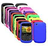 Royal Wireless Ten Silicone Cases / Skins / Covers for Blackberry Curve 8520 / 8530 / 9300 / 9330 /3G - Black, White, Hot Pink, Light Pink, Purple, Orange, Green, Yellow, Red, Blue.