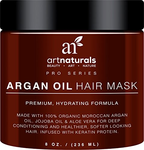 Art-Naturals-Argan-Oil-Hair-MaskDeep-Conditioner-8-Oz100-Organic-Jojoba-Oil-Aloe-Vera-KeratinRepair-Dry-Damaged-Or-Color-Treated-Hair-After-Shampoo-Best-For-All-Hair-Types-Sulfate-Free