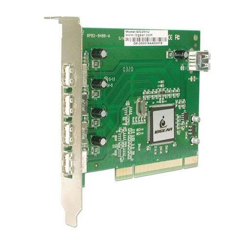 Iogear 5-Port Hi-Speed Usb 2.0 Pci Card Gic251U