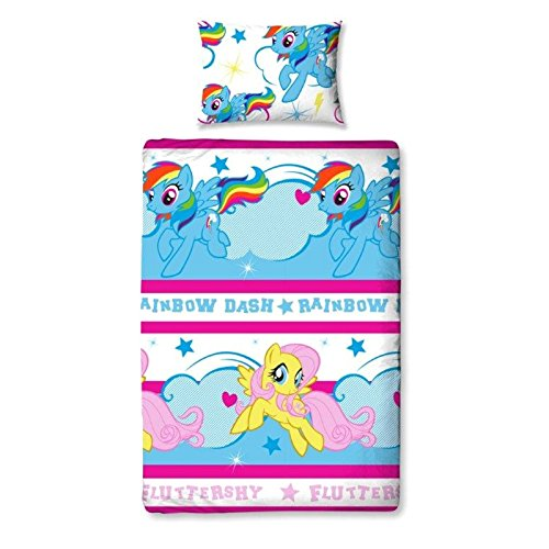 My Little Pony - Completo Copri-Piumino Reversibile - Bambine (Letto Singolo) (Multicolore)
