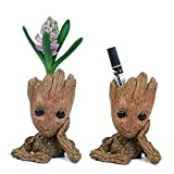 Moive Baby Groot Planter Pen Container 6.2 inch Guardians Of The Galaxy Tree Man Flowerpot with Hole Action Figures Model Toy
