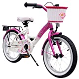 bike*star 40.6cm (16 Zoll) Kinder-Fahrrad - Farbe Pink & Wei