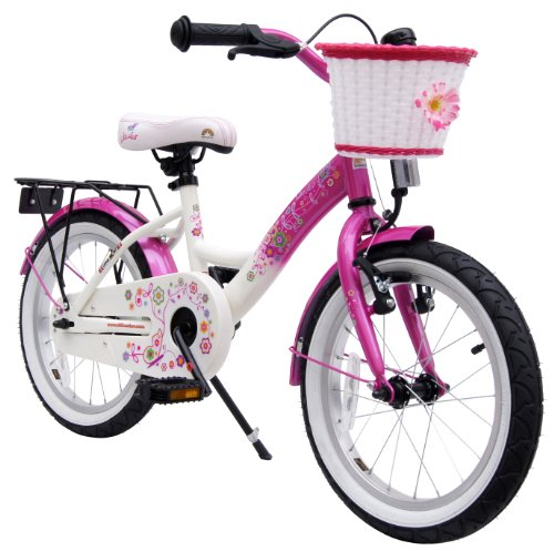 bike*star 40.6cm (16 Inch) Kids Children Girls Bike Bicycle Classic - Colour Pink & White