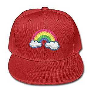 Cartoon Cute Colorful Rainbow Exquisite Red Child Children Pure Baseball Cap