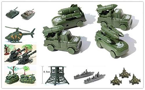 Monkey King 10 pcs/set toys WWII soldier tank military model action figures army kit sand table model for kid children