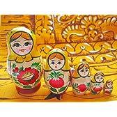 【Chakra(チャクラ)掲載商品】願いを吹き込む♪繁栄のマトリョーシカ 5体 黄色い頭巾