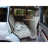 """Deluxe Quilted and Padded seat cover with Non-Slip Fabric in Seat Area for Pets - One Size Fits All 56""""Wx94""""L Taupe"""