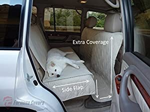 """Deluxe Quilted and Padded seat cover for Pets - One Size Fits All 56""""Wx94""""L Taupe"""
