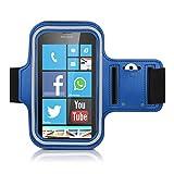 Amazon.co.jpkwmobile スポーツアームバンド Microsoft Lumia 640 用 - ジョギング 歩行 スポーツバッグ 鍵ポケット付き フィットネスバンド スポーツバンド 青色