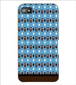 PrintDhaba Owl Pattern D-1673 Back Case Cover for BLACKBERRY Z10 (Multi-Coloured)