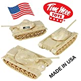 TimMee Toy TANKS for Plastic Army Men: Tan WW2 3pc - Made in USA