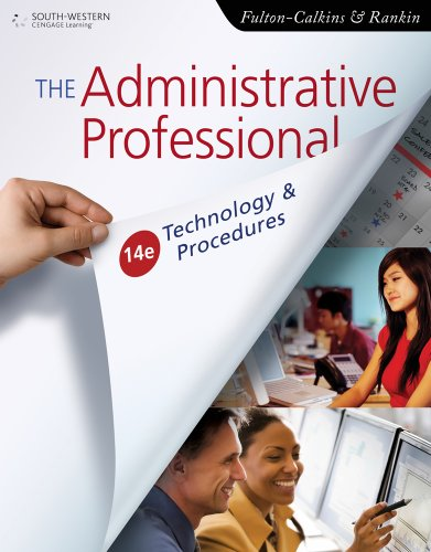 Bundle: Administrative Professional: Technology & Procedure, 14th + WebTutor(TM) ToolBox on Angel 1-Semester Printed