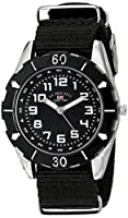 U.S. Polo Assn. Kids' USB75027 Stainless Steel Watch with Black Nylon Strap