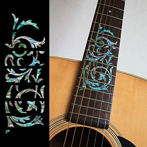 fretboard-markers-inlay-sticker-decals-for-guitar-ornamental-swirl-mix
