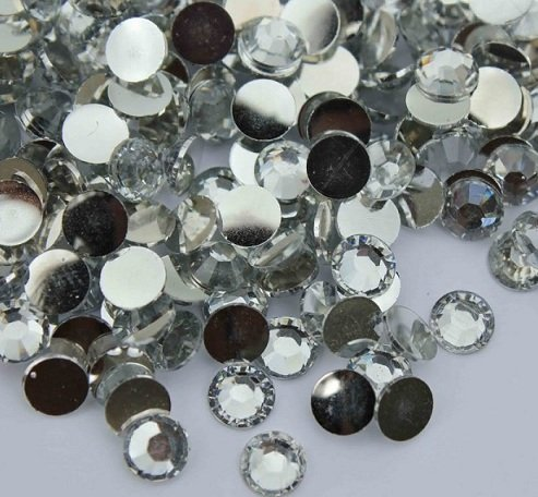 144pcs Round Flatback Rhinestones 6mm (30ss)--- Crystal Clear By Pixiheart