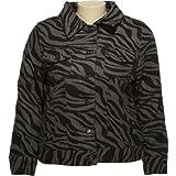 JUNIOR PLUS - DOLLHOUSE Wool Blend Zebra Print Jacket [6746XF] GryZB