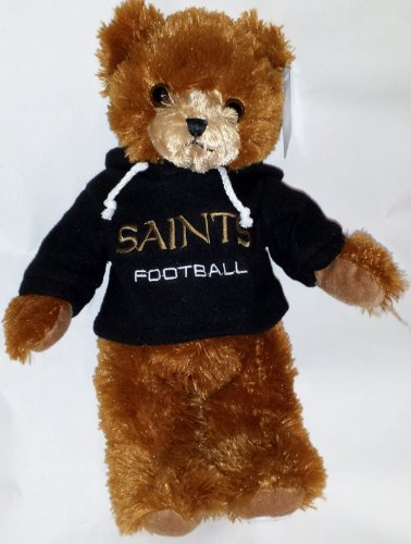 "NFL Football New Orleans Saints 12"" Plush Team Teddy Bear Wearing Logo Hoodie at Amazon.com"