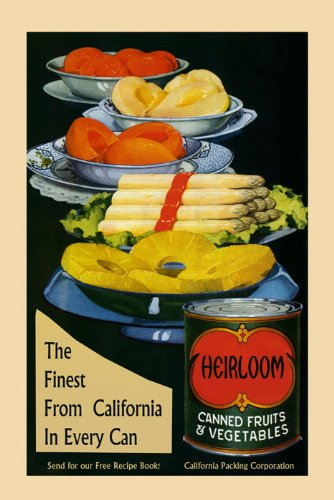 """Food Canned Fruits Vegetables Crate Label Kitchen California Asparagus Pineapple American Advertising 16"""" X 22"""" Image Size Vintage Poster Reproduction We Have Other Sizes Available front-359046"""