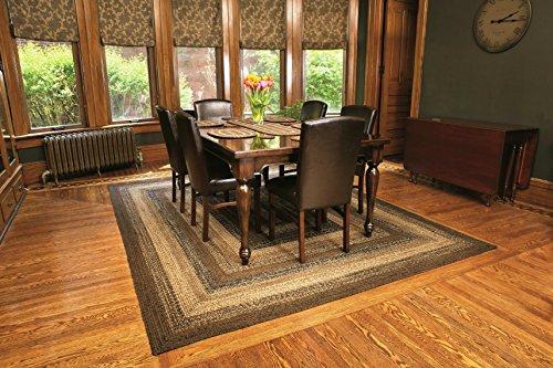 Ihf Home Decor Cappuccino Design Braided Rectangular Rugs