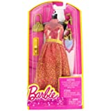 Barbie Dress Up Peach And Gold Dress With Fashion Accessories