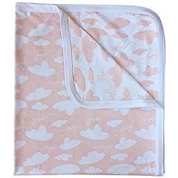 Love is in the Air Reversible Receiving Swaddling Blanket