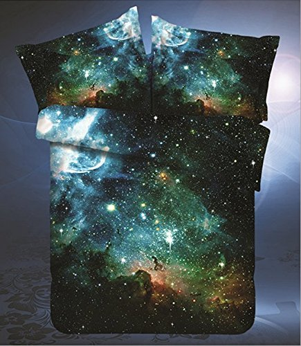 Cheapest Price! LELVA Galaxy Bedding Set Galaxy Duvet Cover Set Kids Bedding for Boys Teens Bedding ...