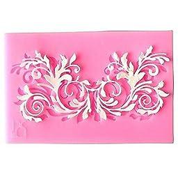 FD3167 Silicone Floral Lace DIY Fondant Chocolate Sugar Craft Cake Baking Mold