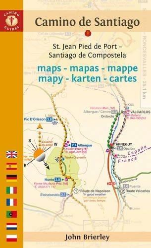 Mapa-Guía Camino de Santiago (St Jean Pied de Port-Santiago). Multilingüe. Camino Guides.